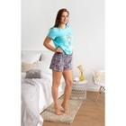 Пижама женская (футболка, шорты) 221ХГ2372П  цвет ментол, р-р 48