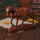 """Подставка под бутылку """"Лошадь"""" дерево 27 см"""