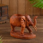 """Подставка под бутылки дерево """"Слон"""" 22х12х20 см"""