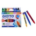 Мелки восковые 12 цветов GIOTTO CERA Maxi 100/11.5 мм круглые 29120