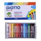 Пастель масляная детская 12 цветов GIOTTO OLIO 70/11.0 мм в обёртке 293000