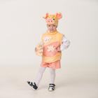 """Карнавальный костюм """"Поросёнок Лаврик"""", плюш, маска, безрукавка, шорты, р.28"""