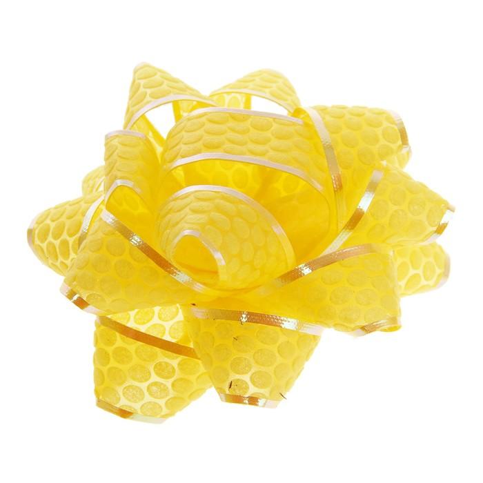 """Бант-звезда №7,5 """"Соты"""", цвет желтый"""