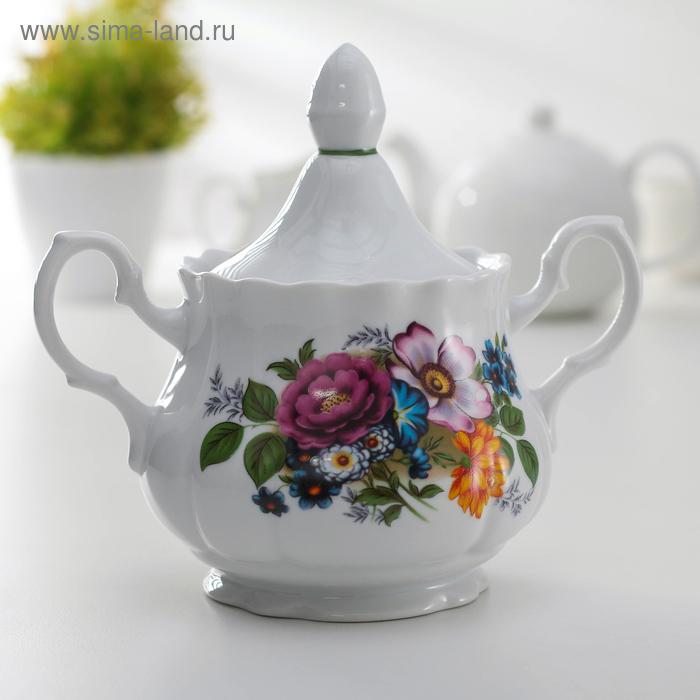 """Сахарница 550 мл """"Букет цветов"""""""