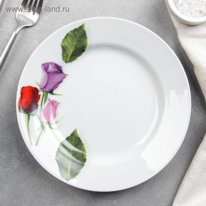 """Тарелка d=20 см мелкая """"Королева цветов"""""""