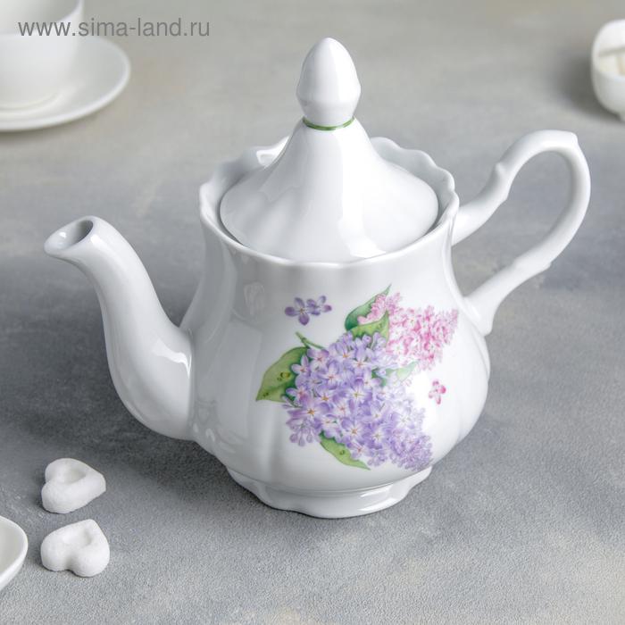 """Чайник 800 мл, """"Романс. Сирень"""""""