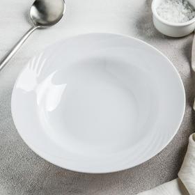 "Тарелка глубокая 20 см ""Белье"", 230 мл"