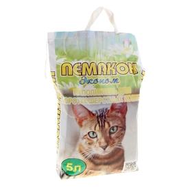 Наполнитель минеральный впитывающий для короткошерстных кошек и котят Эконом 'Пемакон' 5л Ош