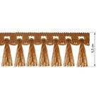 Бахрома в рулоне  (25 м), цвет коричневый