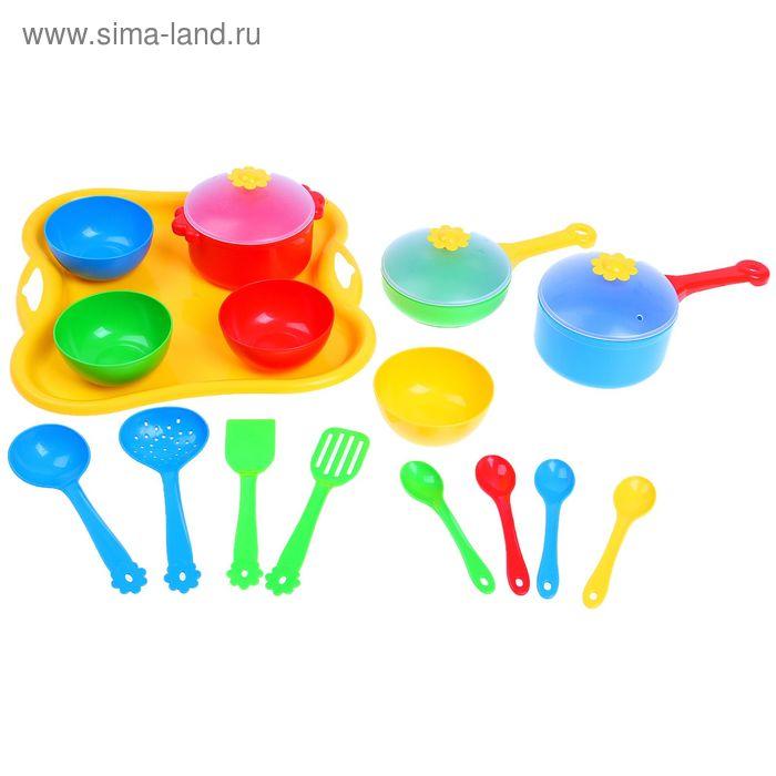 """Набор посуды столовый """"Ромашка"""", 19 предметов, цвета МИКС"""
