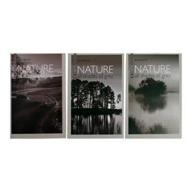 """Блокнот А6, 40 листов на скрепке """"Природа"""" 3 вида МИКС"""