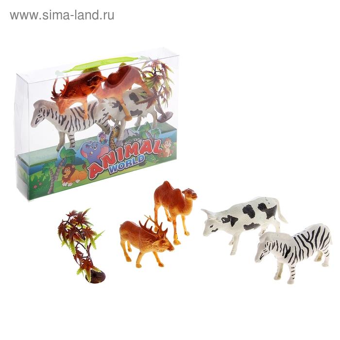 """Набор животных """"Животные планеты"""", с аксессуарами, (4 штуки)"""