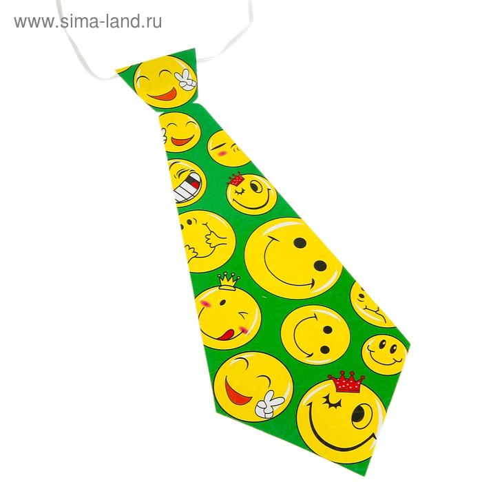 """Карнавальный галстук """"Весёлые смайлы"""", набор 6 шт."""