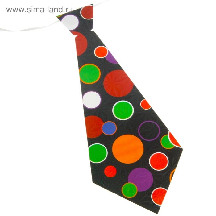 """Карнавальный галстук """"Круги"""", набор 6 шт."""