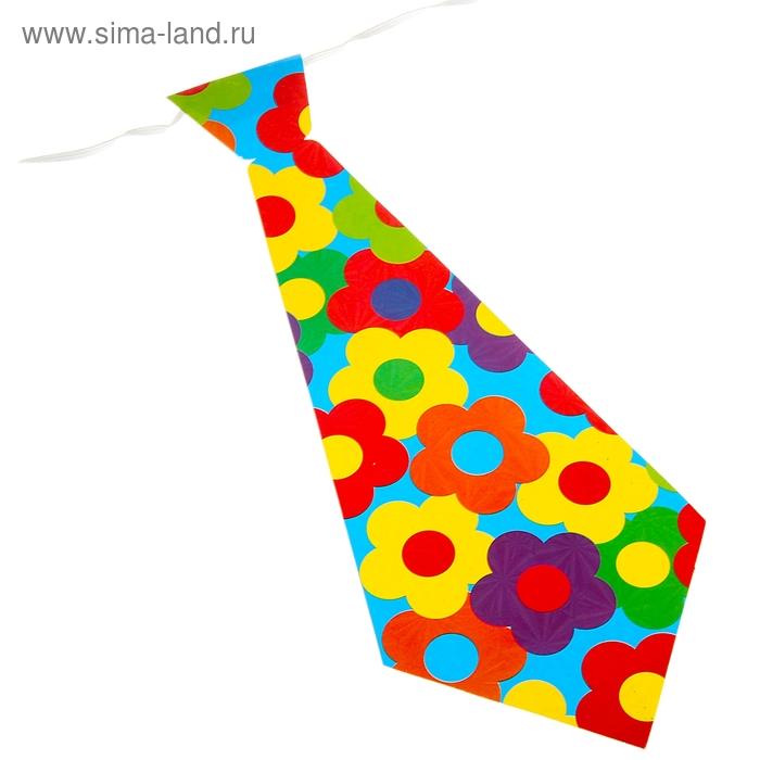 """Карнавальный галстук """"Цветы"""", набор 6 шт."""