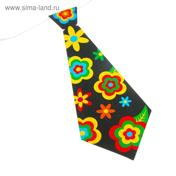 """Карнавальный галстук """"Ромашки"""", набор 6 шт."""