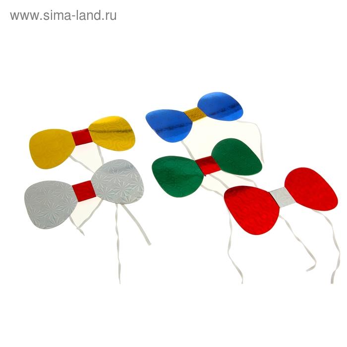 "Карнавальная бабочка ""Узоры"", набор 6 шт., цвета МИКС"