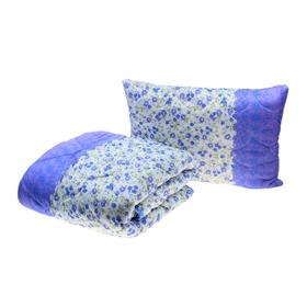 Комплект Миродель: одеяло 145*205 ± 5 см/подушка 50*70см, холофан, п/э, чехол цвета МИКС Ош