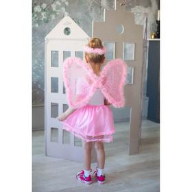 """Карнавальный набор """"Ангел"""", 4 предмета: нимб, жезл, крылья, юбка, 3-4 года, цвет розовый"""