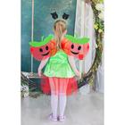 """Карнавальный набор """"Яблочко"""", 4 предмета: ободок, жезл, крылья, платье, 3-4 года"""