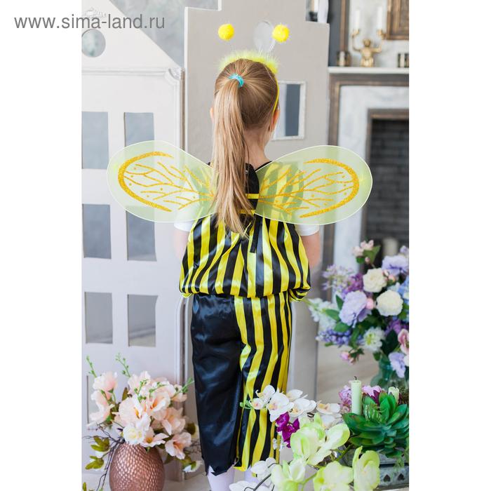 """Карнавальный набор """"Пчёлка"""", 5 предметов: ободок, жезл, крылья, штаны, накидка, 3-4 года"""