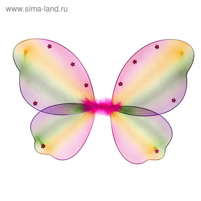 "Карнавальные крылья ""Бабочка"", цветные"