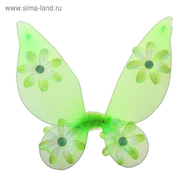 """Карнавальные крылья """"Бабочка"""", цветочки"""