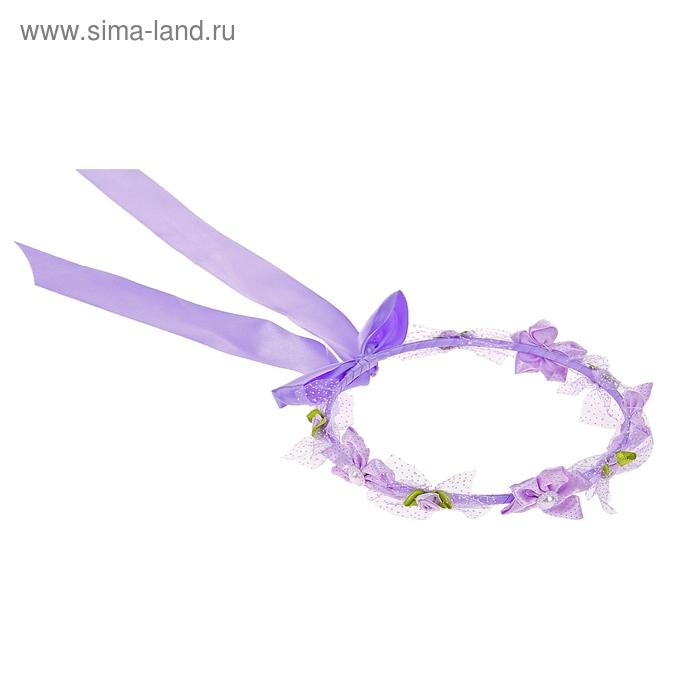 Венок на голову, цвет фиолетовый