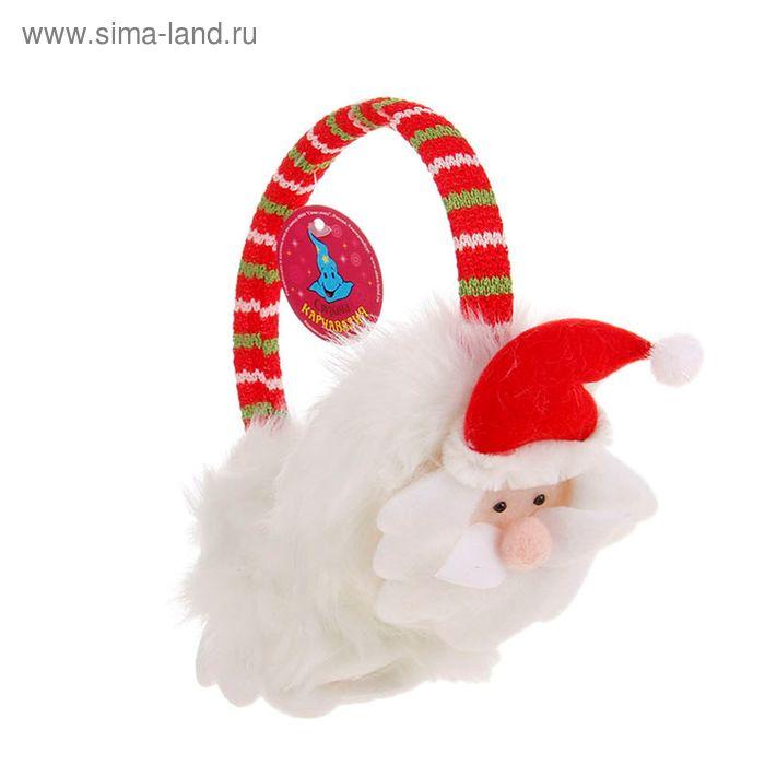 """Ободок-наушники """"Дед Мороз"""""""