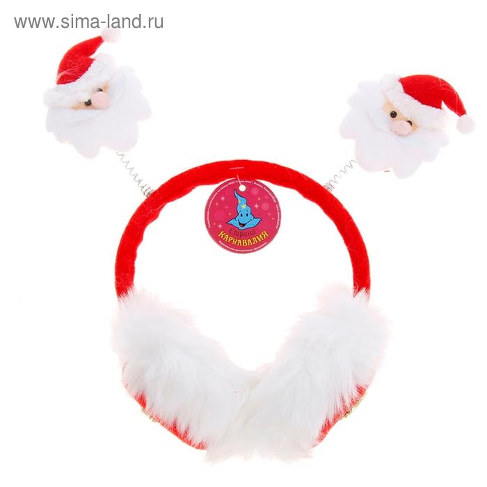 """Ободок-наушники """"С Новым годом! Дед Мороз"""""""