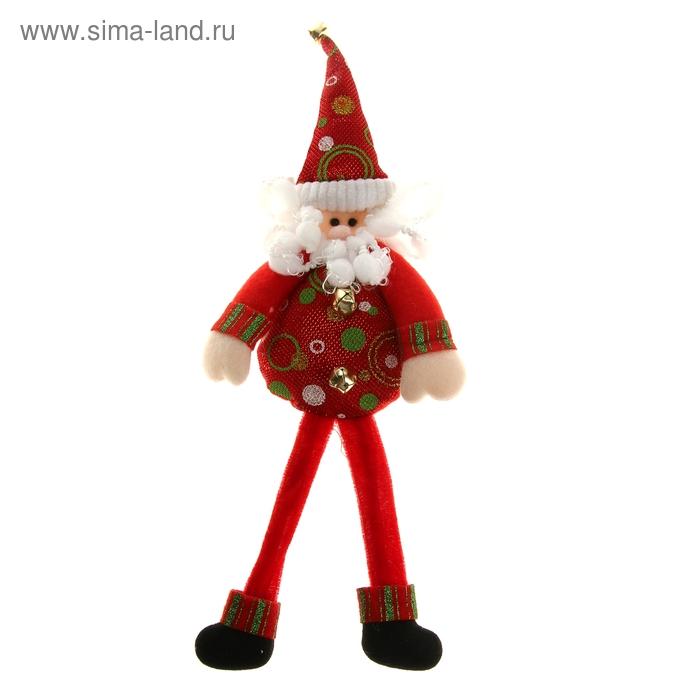 """Мягкая игрушка """"Весёлый Дед Мороз"""" (красный)"""