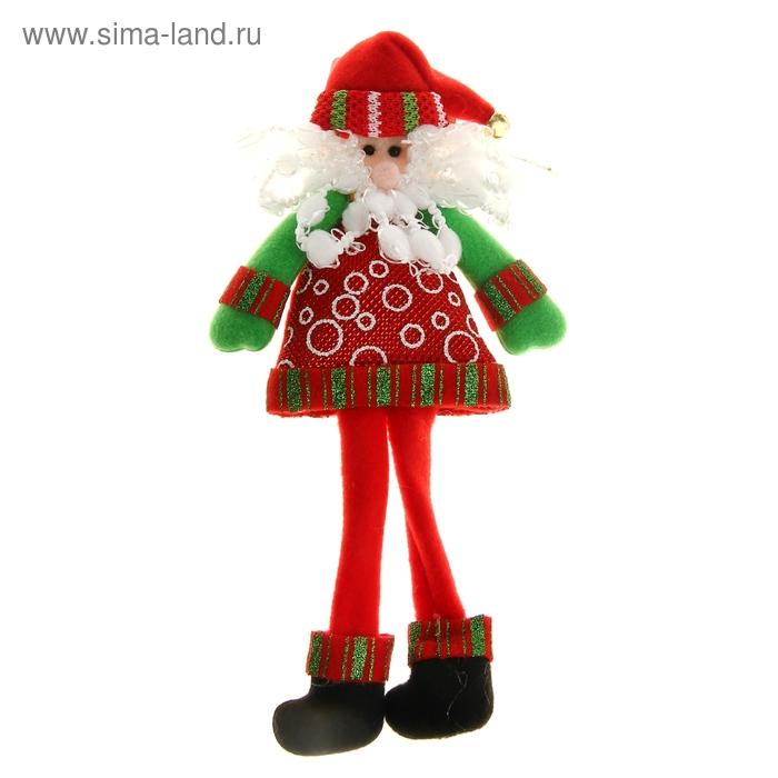 "Мягкая игрушка ""Дед Мороз в шубке"" (кружочки)"