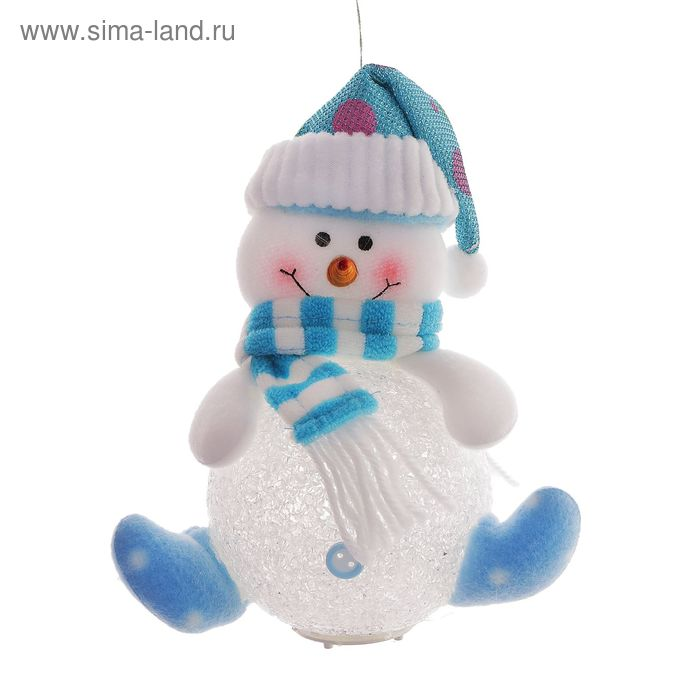"""Световая игрушка """"Снеговик в шарфике"""""""