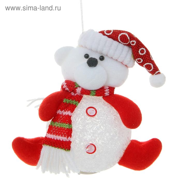 """Световая игрушка """"Мишка в шарфике"""""""