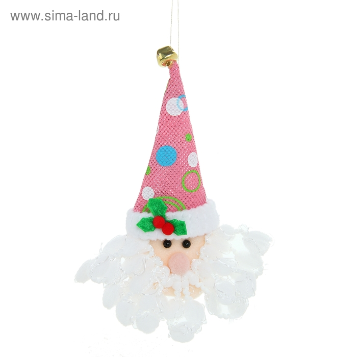 """Мягкая игрушка """"Дед Мороз в высоком колпаке"""" розовая"""