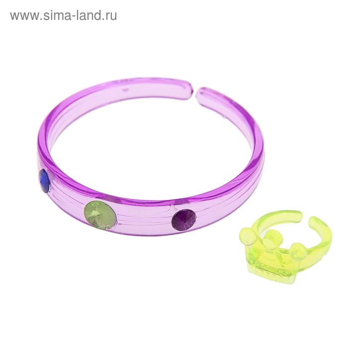 Карнавальный набор 2 предмета: браслет, кольцо, цвета МИКС