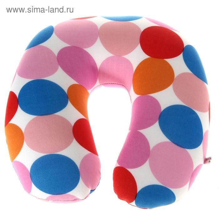 Мягкая игрушка-антистресс подголовник цветной горох