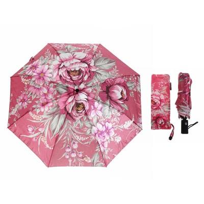 """Зонт автоматический """"Розы"""", R=51см, цвет розовый"""