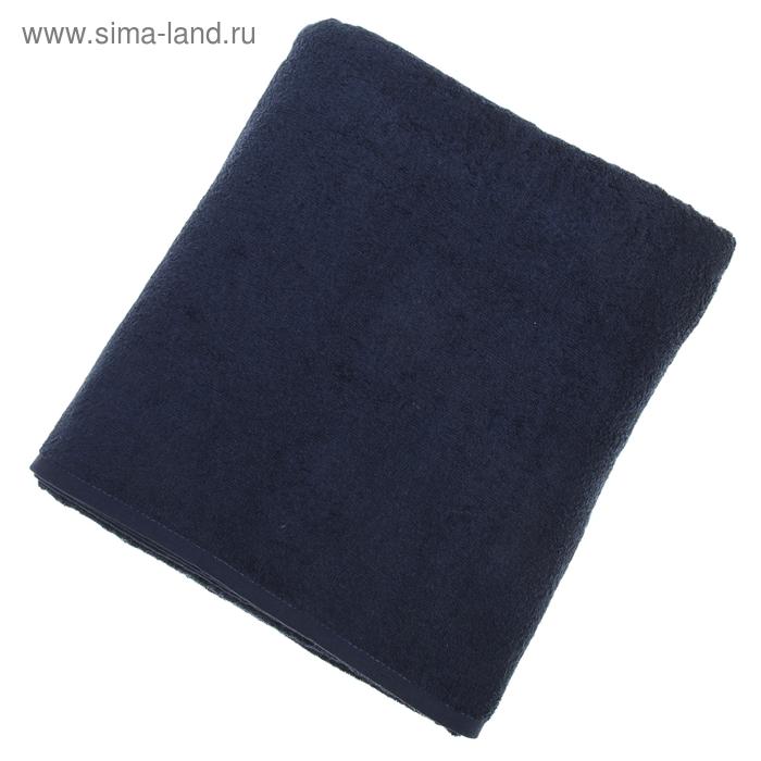 """Простыня махровая однотонная """"Антей"""" цвет синий 155*200 см 100% хлопок 380 гр/м"""