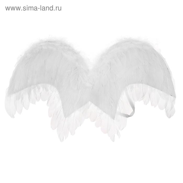 Карнавальные крылья ангела, цвет белый