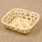 Хлебница квадратная, редкое плетение