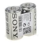 Батарейка Солевая  Sony New Ultra, C, R14-2S, спайка, 2 шт.