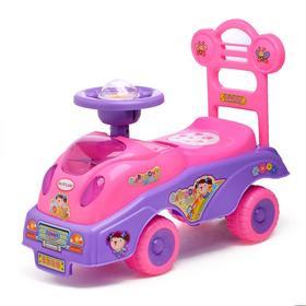 """Толокар """"Машинка для девочки"""", с музыкой, цвета МИКС"""