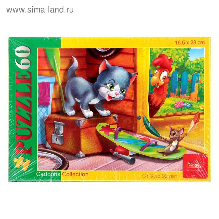 """Пазлы """"Котенок и мышонок"""", 60 элементов"""