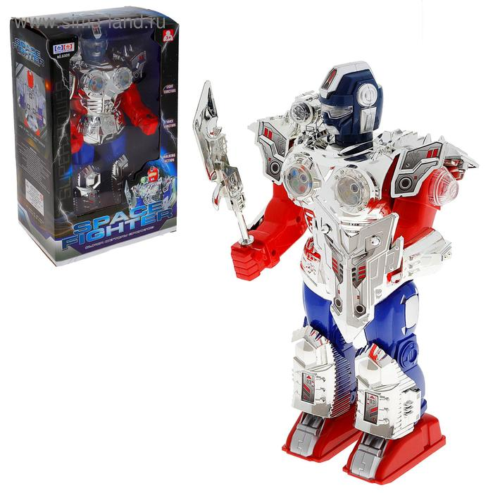 """Робот """"Космический воин"""", световые и звуковые эффекты"""