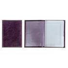 Обложка для автодокументов, 4 отдела для карт, глянцевый, фиолетовый