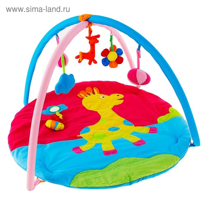 """Коврик развивающий """"Жирафик"""", игрушки-погремушки"""
