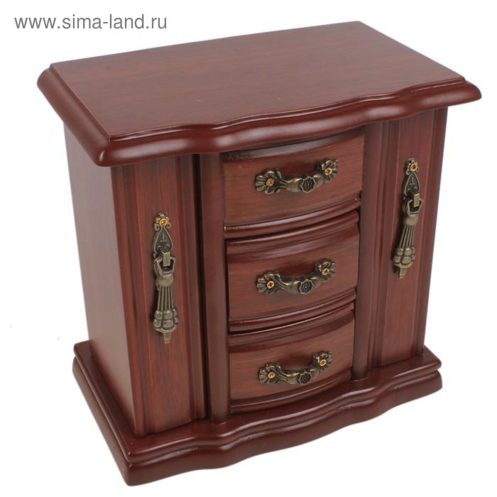 Шкатулка шкаф 3 ящика 2 двери резной
