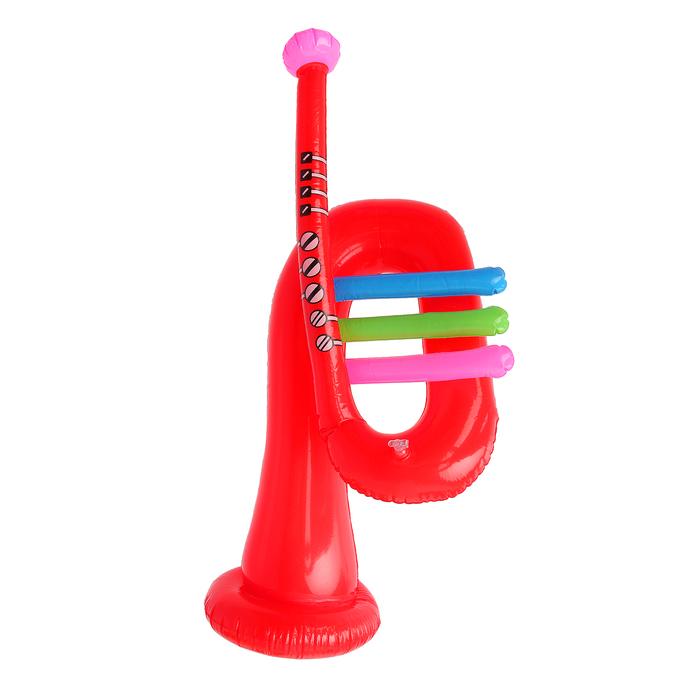 "Надувная игрушка со звуком ""Труба"" 65 см, цвета микс"