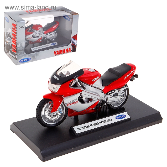 Модель мотоцикла Yamaha 2001, масштаб 1:18